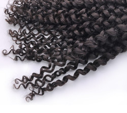 7A Virgin Thailand Kinky Curl Hair Weave Natural Black thw005