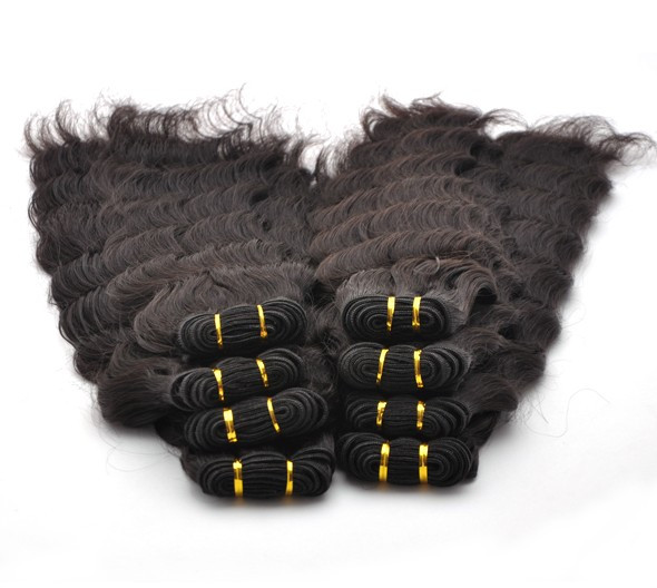 7A Virgin Thailand Hair Weave Deep Wave Natural Black