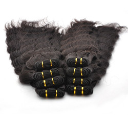 7A Virgin Thailand Hair Weave Deep Wave Natural Black thw007