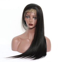 Long Straight 360 Lace Frontal Wig, 100% Human Hair Wigs 12-30 inch