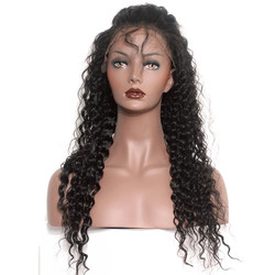 Deep Wave 360 Lace Human Hair Wig Soft Like Silk, 14-28 inch 360 Lace Frontal Wig