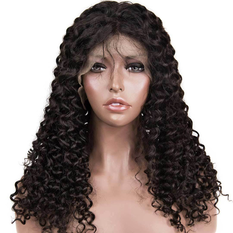 360 Lace Frontal Human Hair Water Wave Wigs, 10-30 Inch  Smooth & Shiny