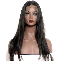 Silky Straight Full Lace Wig, 100% Human Virgin Hair Wigs 8-28 inch