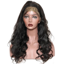 Body Wave Full Lace Human Hair Wigs With Baby Hair, 10-30 inch