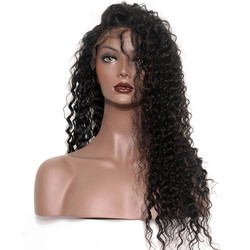 Soft like Silk Deep Wave Full Lace Human Hair Wig, 10-28 inch Lace Wigs