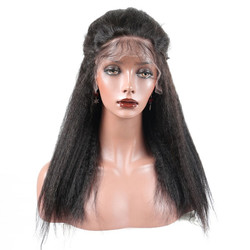 Shiny Kinky Straight Full Lace Wig, Amazing Human Hair Wigs 12-28 inch