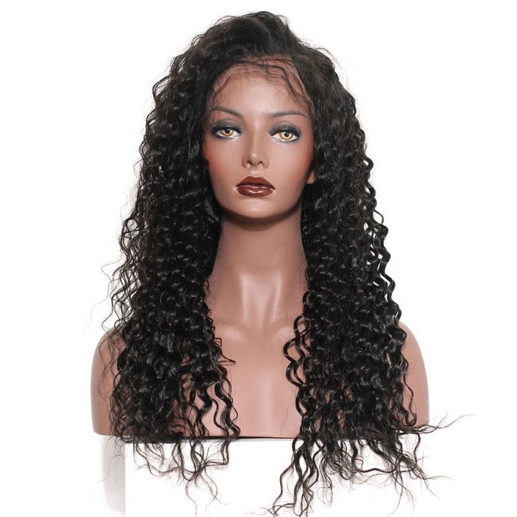 Loose Curly Full Lace Wigs, Human Hair Wigs With Discount 12-30 Inch flw010