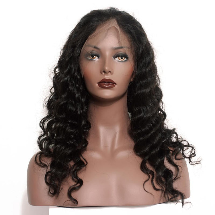 Best Quality Loose Wave Lace Front Human Hair Wig Soft Like Silk flw011