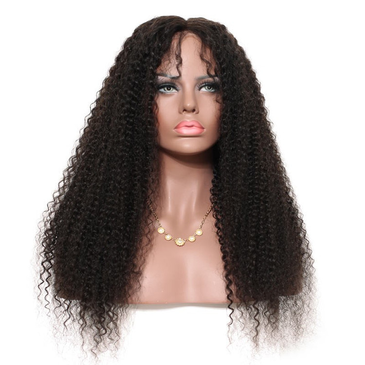 Kinky Curly Full Lace Wig, 100% Virgin Hair Curly Wigs For Women flw012
