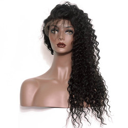 Full Lace Human Hair Water Wave Wigs, 10-30 Inch Smooth & Shiny