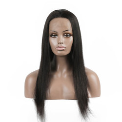 Long Straight Lace Front Wigs, 100% Human Hair Wig 10-30 inch lfw001