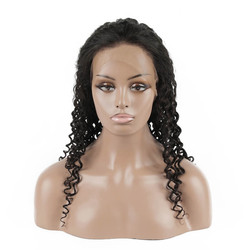 Human Hair Wig, Curly Lace Front Wig Smooth Like Silk, 10-24 inch
