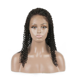 Kinky Curly Lace Front Wig, 100% Virgin Hair Curly Wigs 8A For Women