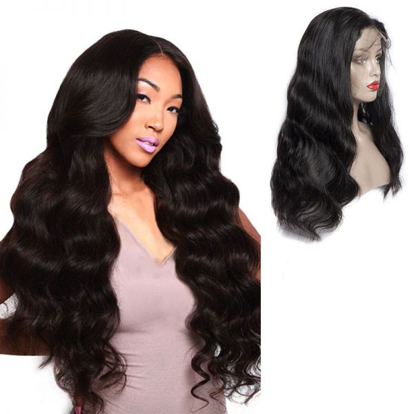 Human Hair Lace Front Wigs Natural Wave